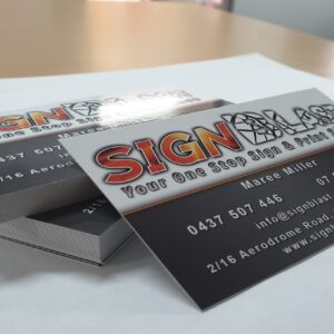 business card created by graphic design studio online at sign shop Brisbane Queensland Australia