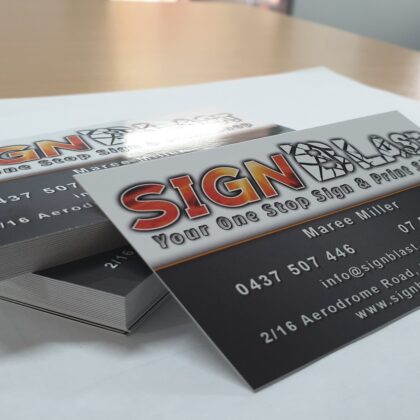 Business Card created by design studio online at sign shop Brisbane Queensland Australia