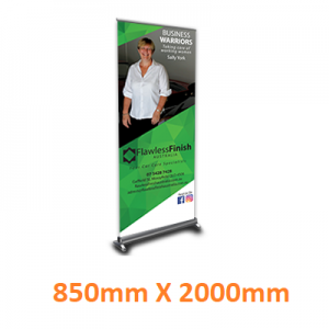 pull up banner created by graphic design studio online at sign shop Brisbane Queensland Australia