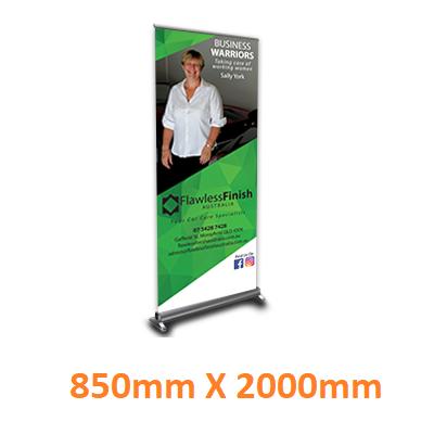 pull up banner created by graphic design studio online at sign shop Brisbane Queensland Australia