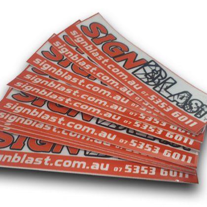 Stickers created by design studio online at sign shop Brisbane Queensland Australia