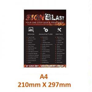 brochure designed and created by graphic design studio online at sign shop Brisbane Queensland Australia