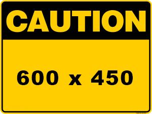 Caution Sign created by graphic design studio online at sign shop Brisbane Queensland Australia