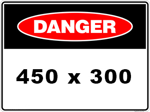Danger Sign created by graphic design studio online at sign shop Brisbane Queensland Australia