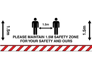 Keep Distance Sign created by graphic design studio online at sign shop Brisbane Queensland Australia