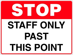 staff only Sign created by design studio online at sign shop Brisbane Queensland Australia